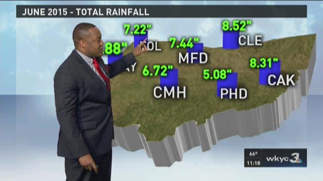 11 p.m. weather forecast for July 1, 2015