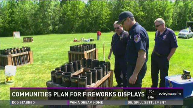 Communities plan for fireworks displays