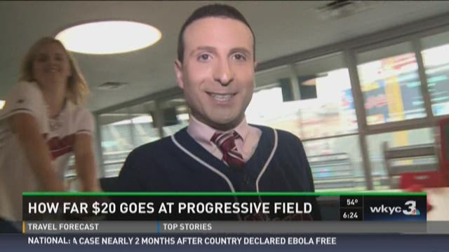 How far does $20 go at Progressive Field?
