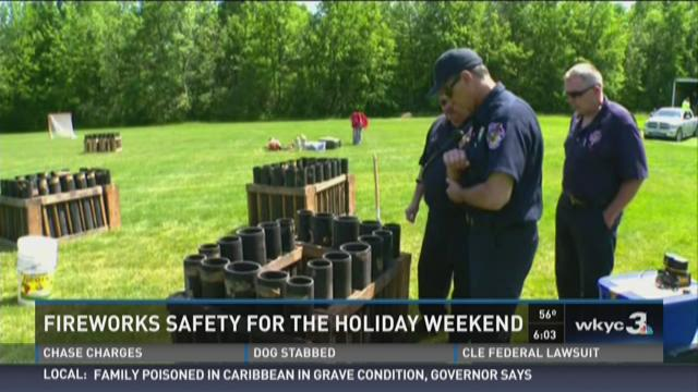 Fireworks safety for the holiday weekend