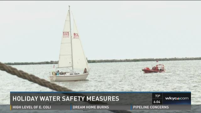 Coast Guard boating safety on the water