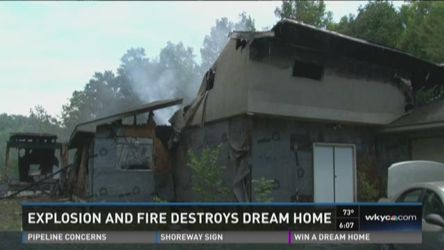 Geauga County home catches fire