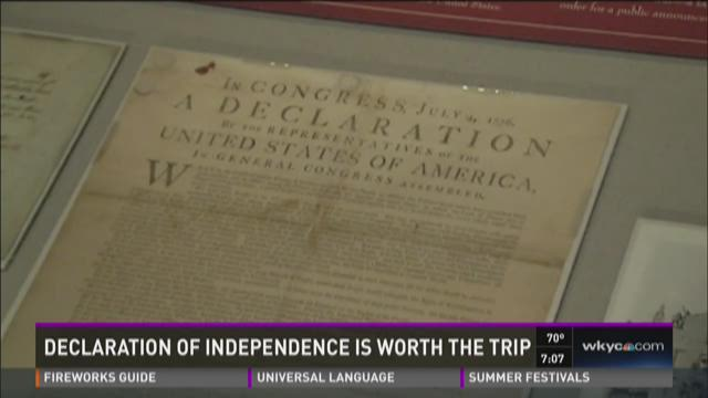Travel to see the Declaration of Independence