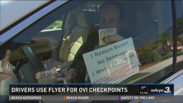 Will the DUI flyer get drunk drivers through checkpoints?