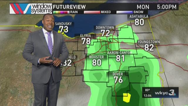 Noon weather forecast for July 6, 2015