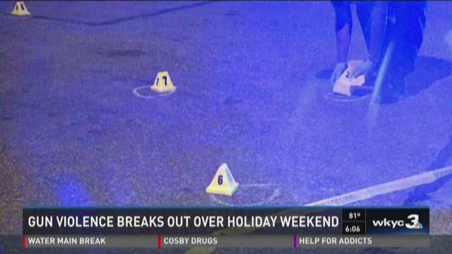 Gun violence breaks out over holiday weekend
