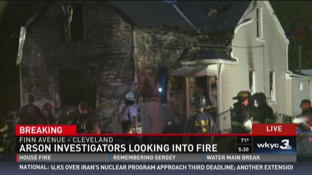 Arson Investigators looking into fire on Finn Ave