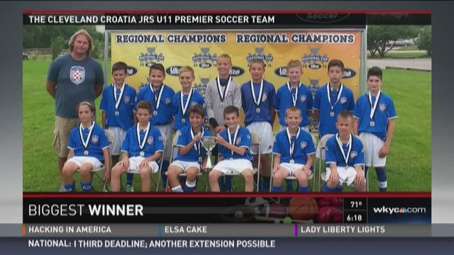 Biggest winner: Cleveland Croatia Juniors Soccer Club