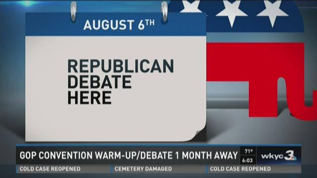 Republican National Debate one month away in Cleveland