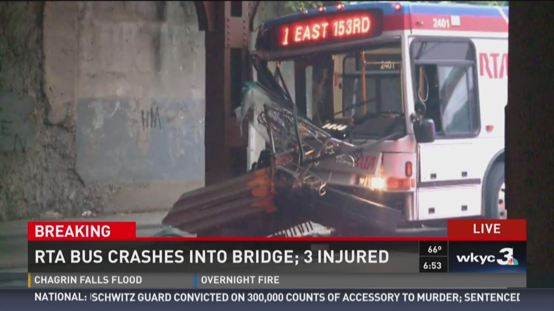 RTA Bus Crash Into Bridge