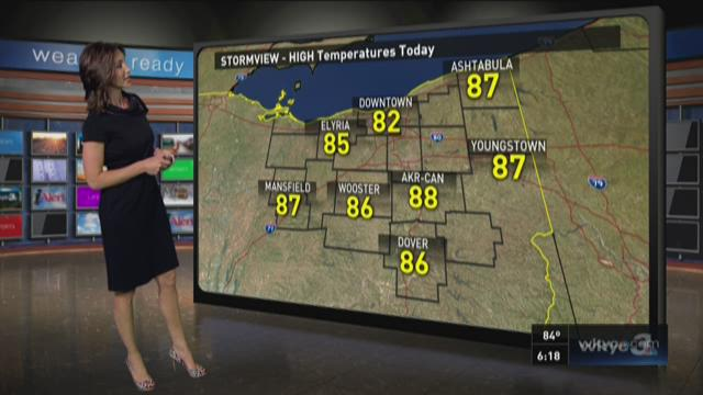 6 p.m. weather forecast for Monday, July 27, 2015