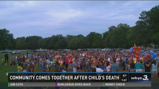 Community comes together after child's death