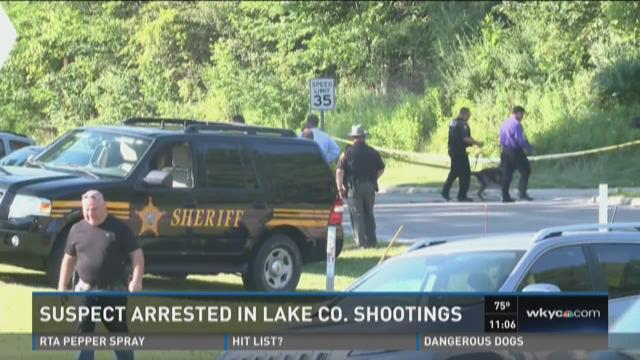 Suspect arrested in Lake County shootings