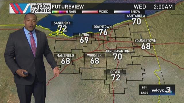 Noon weather forecast for July 28, 2015
