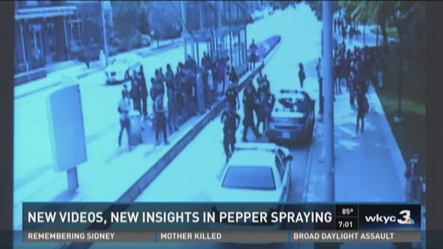 New videos give perspective on pepper spray incident