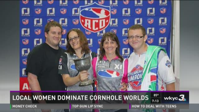 Local women dominate cornhole worlds