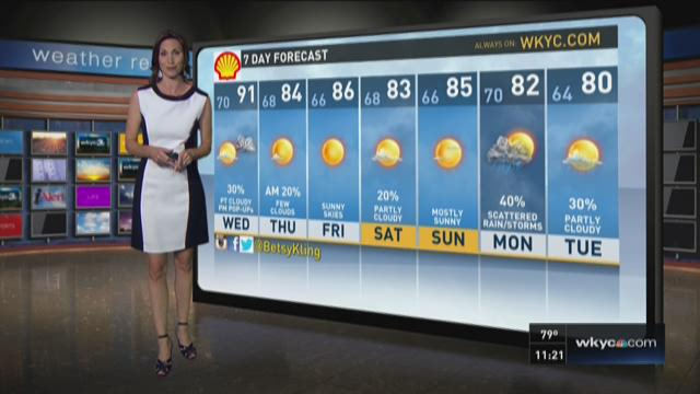 11 p.m. weather forecast for July 28, 2015