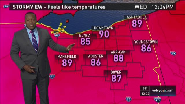 Noon weather forecast for July 29, 2015