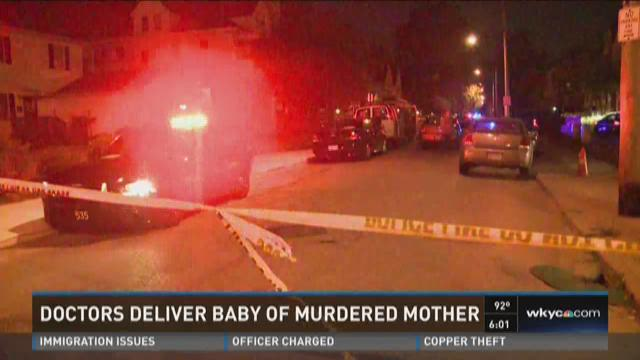 Doctors deliver baby of murdered mother