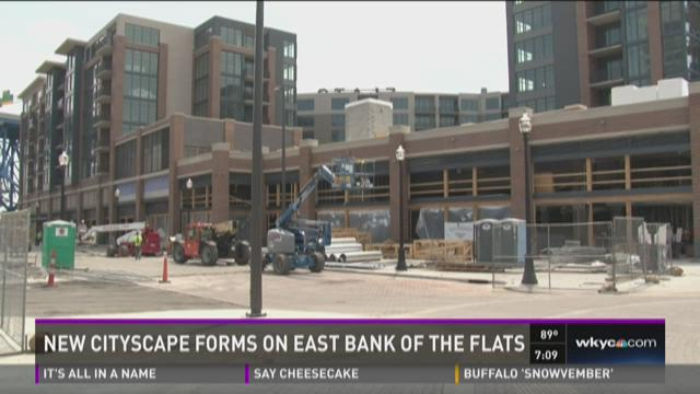 New cityscape forms at Flats East Bank
