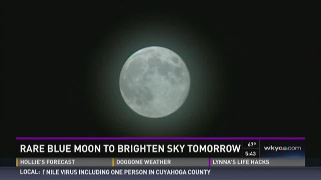 Rare Blue Moon to Brighten Sky