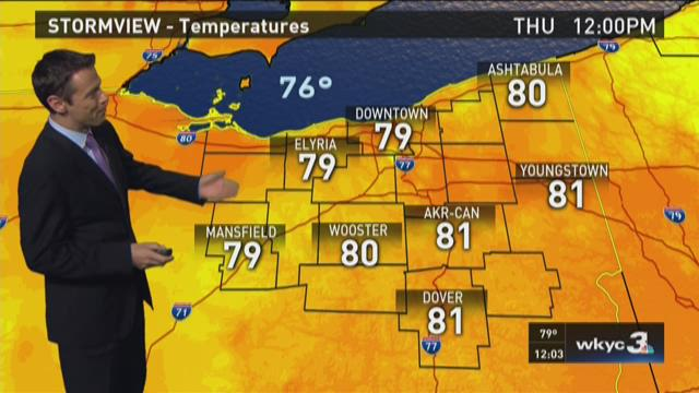 Thursday Noon Weather Forecast