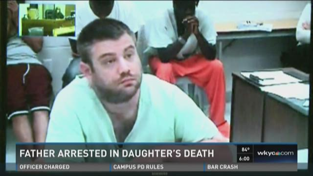 Father arrested in daughter's death