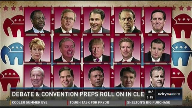 Debate and convention preps roll on in CLE