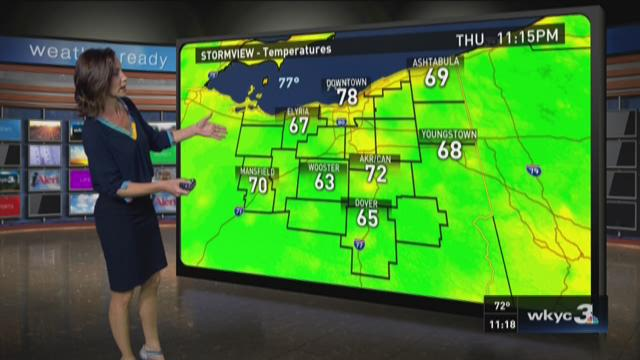 11 p.m. weather forecast for July 30, 2015