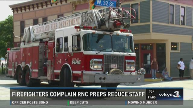 Firefighters complain RNC preps reduces staff