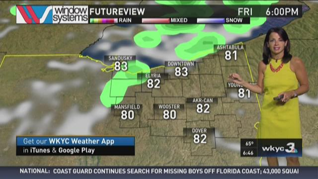 Morning weather forecast for July 31, 2015