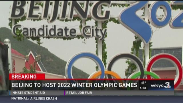 Beijing to host 2022 Winter Olympics