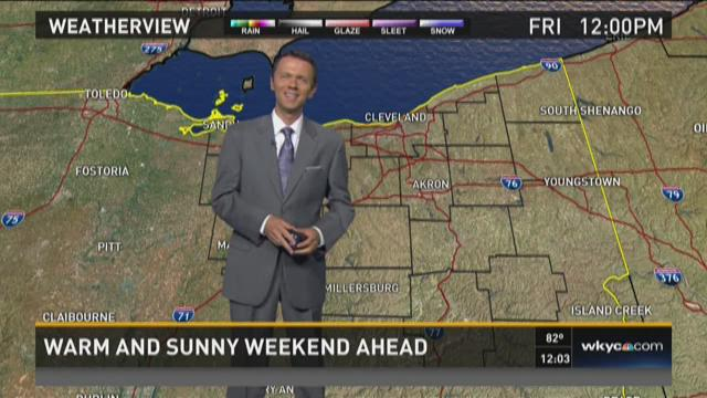Noon weather forecast for July 31, 2015