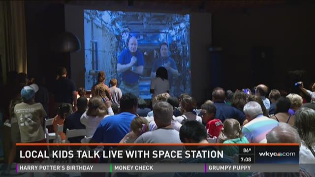 Local kids talk live with space station