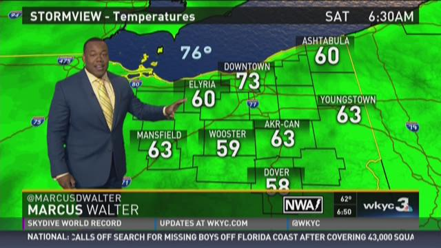 Saturday morning weather forecast for August 1, 2015
