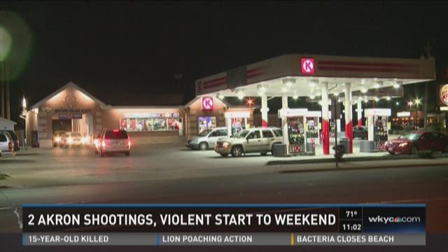 2 Akron shootings, violent start to weekend