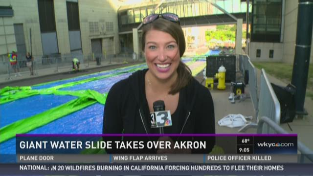 Slide The City makes a splash in Akron