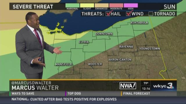 Sunday afternoon weather forecast for August 2, 2015