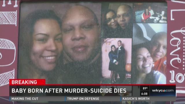 Baby born after murder-suicide dies