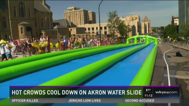 Slide the city makes a splash in Akron