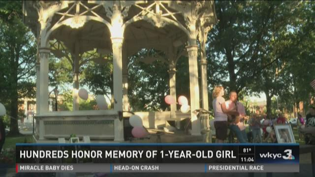 Hundreds honor memory of 1-year-old girl