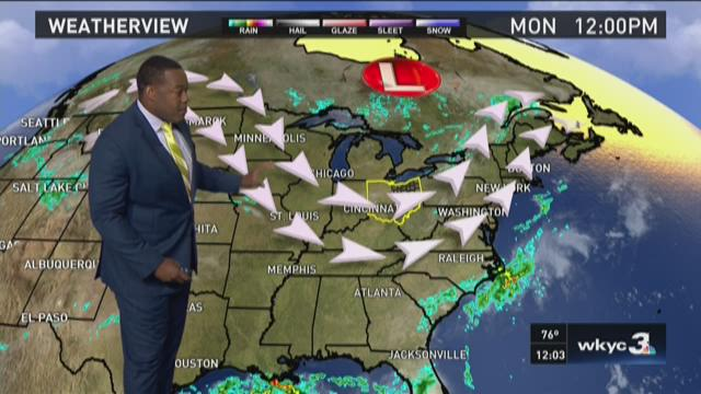 Noon weather forecast for Aug. 3, 2015