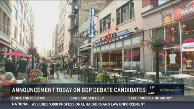 Top 10 GOP debate contenders to be revealed Tuesday