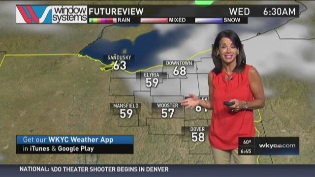 Morning weather forecast for August 4, 2015