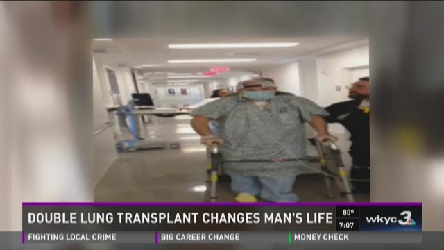 Double lung transplant changes man's life