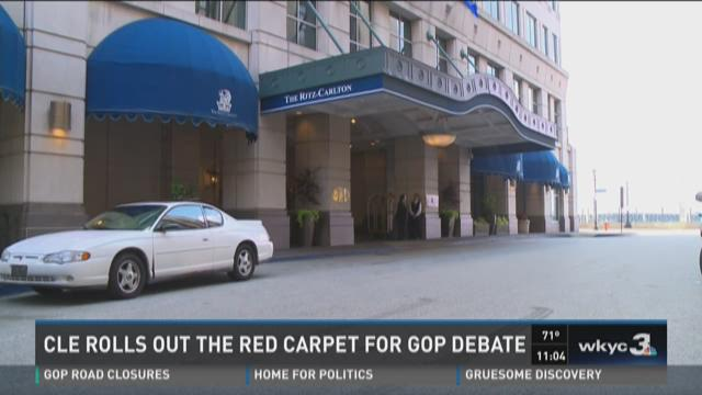 Cleveland rolls out the red carpet for GOP debate.