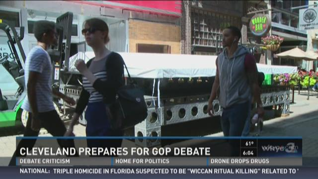 Cleveland prepares as GOP debate approaches