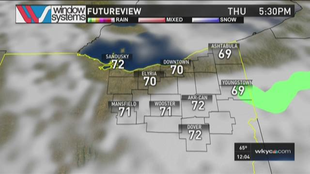 Noon weather forecast Aug. 27, 2015