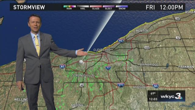 Noon Friday weather forecast