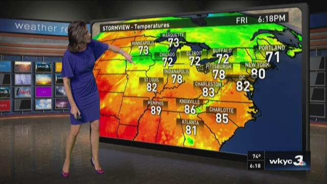 6 p.m. weather forecast for August 28, 2015